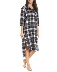 Make + Model - Flannel Midi Sleep Shirt - Lyst