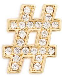 Michael Kors - Michael Hashtag Pin - Metallic - Lyst