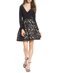 Xscape - Embroidered Jersey Party Dress - Lyst