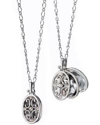 Monica Rich Kosann - Scrollwork Locket Necklace - Lyst