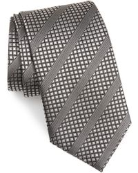 David Donahue - Diagonal Stripe Silk Tie - Lyst