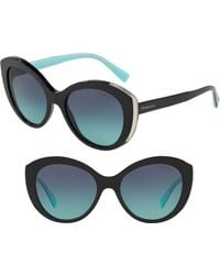 Tiffany & Co. - Diamond Point 54mm Gradient Round Sunglasses - Lyst