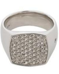 Tom Wood - White Topaz Cushion Pinkie Ring - Lyst
