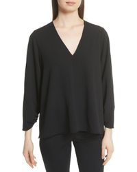 Tibi - Ruched Sleeve Top - Lyst