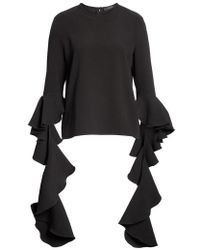 Ellery - Emmeline Frill Sleeve Top - Lyst