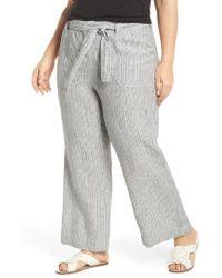 Caslon - Caslon Wide Leg Crop Linen Pants - Lyst