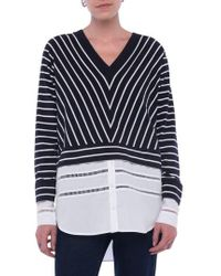 French Connection - Tim Tim Stripe Layer Sweater - Lyst