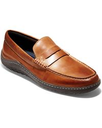 71436d74de0 Lyst - Cole Haan Motogrand Leather Camp-Moc Loafer in Brown for Men