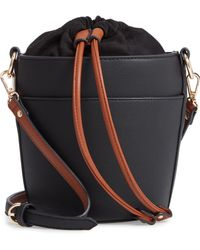 Chelsea28 - Izzy Faux Leather Bucket Bag - Lyst