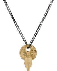Miansai - Wise Lock Brass Pendant Necklace - Lyst