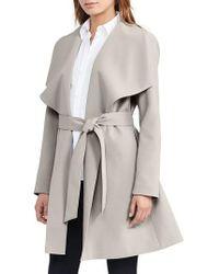 Lauren by Ralph Lauren   Belted Drape Front Coat   Lyst