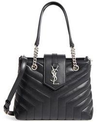 Saint Laurent - Small Loulou Matelasse Leather Shopper - - Lyst