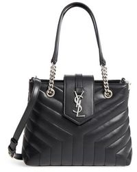 Saint Laurent - Small Loulou Matelasse Leather Shopper - Lyst