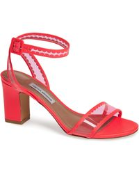 8a4dc8e85044 Tabitha Simmons - Leticia Clear Ankle Strap Sandal - Lyst