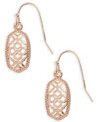 Kendra Scott - Lee Small Filigree Drop Earring. - Lyst