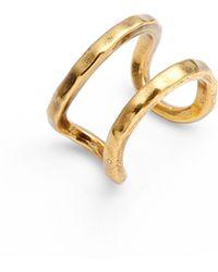Karine Sultan - Adjustable Openwork Ring - Lyst