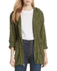 Alice + Olivia - Marna Embroidered Hooded Parka - Lyst