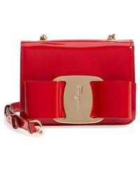 Ferragamo - Vara Patent Leather Crossbody Bag - - Lyst