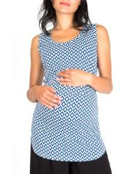 Nom Maternity - Joey Ruched Maternity Tank Top - Lyst