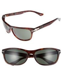 Persol - Officina 63mm Polarized Sungasses - Havana/ Green - Lyst