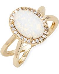 Melinda Maria - White Opal Cocktail Ring - Lyst