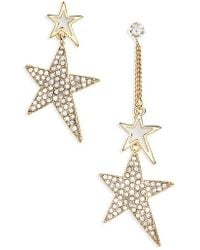 Cara - Crystal Star Statement Earrings - Lyst