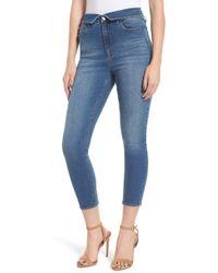 Tinsel - Foldover Waist Crop Skinny Jeans - Lyst