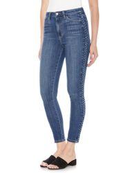 Joe's - Charlie Braid High Waist Ankle Skinny Jeans - Lyst