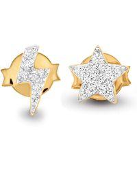 Missoma - Gold Star Struck Pave Stud Pair - Lyst