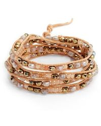 Chan Luu | Mixed Semiprecious Stone Wrap Bracelet | Lyst