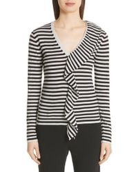 Max Mara - Dingo Stripe Silk & Cashmere Sweater - Lyst
