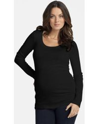 Ingrid & Isabel - Ingrid & Isabel Scoop Neck Maternity Tee - Lyst