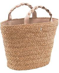 Helen Kaminski - Small Woven Raffia Market Basket - - Lyst