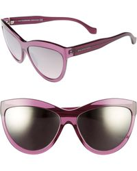 Balenciaga - 60mm Sunglasses - Transparent Purple/ Silver - Lyst