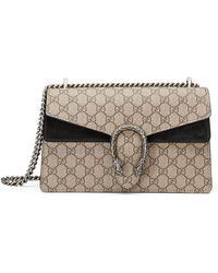 Gucci - Small Dionysus Gg Supreme Canvas & Suede Shoulder Bag - - Lyst