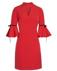 Julia Jordan - Choker Bell Sleeve Dress - Lyst