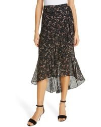Love Sam - Belle Fluer Silk Wrap Skirt - Lyst