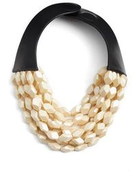 Fairchild Baldwin - Oval Bella Beaded Collar Necklace - Lyst