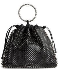 Balmain - Studded Leather Bracelet Backpack - Lyst
