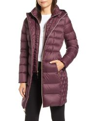 MICHAEL Michael Kors - Packable Hooded Down Parka With Vest Inset - Lyst