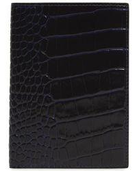 Smythson - Mara Croc Embossed Leather Passport Case - - Lyst