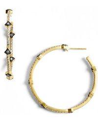 Freida Rothman - 'metropolitan' Inside Out Hoop Earrings - Lyst