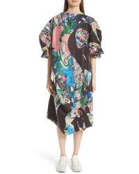Comme des Garçons - Print Puff Sleeve Dress - Lyst