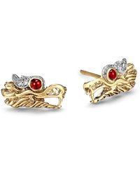 John Hardy - Legends Naga Dragon Stud Earrings - Lyst