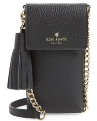 Kate Spade - North/south Leather Smartphone Crossbody Bag - - Lyst