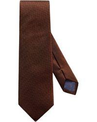 Eton of Sweden - Herringbone Textured Silk Tie - Lyst