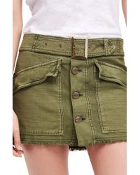 Free People - Hangin' On Tight Miniskirt - Lyst