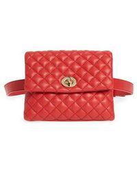 mali + lili - Mali + Lili Quilted Vegan Leather Convertible Belt Bag - - Lyst