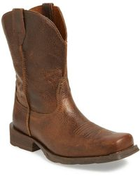 Ariat - 'rambler' Square Toe Leather Cowboy Boot - Lyst