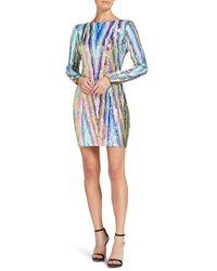 Dress the Population - Lola Sequin Body-con Dress - Lyst